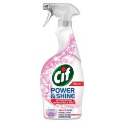 Cif Power & Shine środek do czyszczenia w spray`u Antybakteryjny 750ml