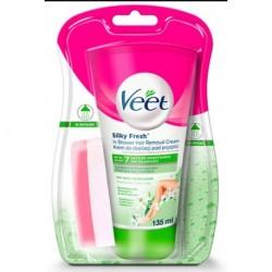 Veet Silk&Fresh Krem do depilacji pod prysznic dla skóry suchej 135ml