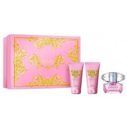 Versace Bright Crystal Woda toaletowa 50ml spray + Balsam do ciała 50ml + Żel pod prysznic 50ml