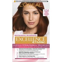 L`Oreal Excellence Creme Farba do włosów 4.54 Brąz mahoniowo-miedziany