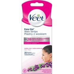 Veet Easy-Gelwax Precyzyjne plastry z woskiem do depilacji twarzy 20szt