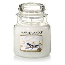 Yankee Candle Med Jar Średnia świeczka zapachowa Vanilla 411g