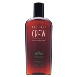 American Crew Official Supplier To Men 3-In-1 Szampon odżywka i żel do kąpieli drzewo herbaciane dla mężczyzn 450ml