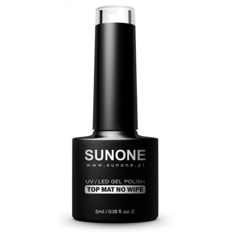 Sunone UV/LED Gel Polish Top Mat No Wipe matowy top hybrydowy bez wycierania 5ml