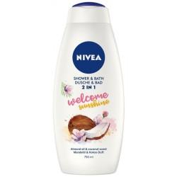 Nivea Shower & Bath płyn do kąpieli i żel pod prysznic 2w1 Welcome Sunshine 750ml