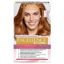 L`Oreal Excellence Creme Farba do włosów 7.43 Blond miedziano-złocisty