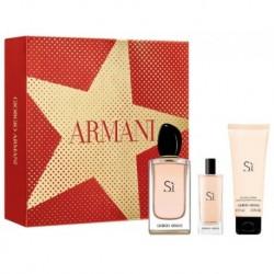 Giorgio Armani Si Woda perfumowana 100ml spray + Woda perfumowana 15ml + Balsam do ciała 75ml