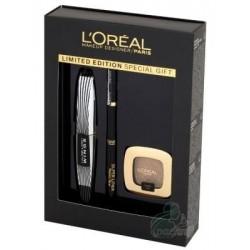 L`Oreal Makeup Designer Maskara False Lash Wings Tusz do rzęs Czarny + Eyeliner Czarny + Cień do powiek