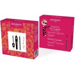 Bourjois Twist Up The Volume Mascara tusz do rzęs Ultra Black 8ml + Khol & Contour Black Eye Pencil kredka do oczu 1,14g