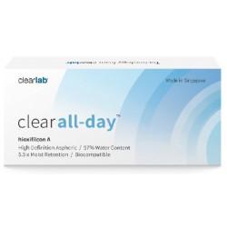 Clearlab Clear All-Day miesięczne soczewki -1,25 3szt