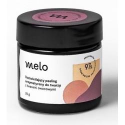 Melo Rozświetlający peeling enzymatyczny do twarzy z Kwasami Owocowymi 20g