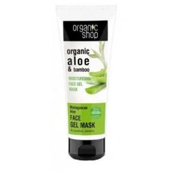 Organic Shop Organic Aloe & Bamboo Moisturizing Face Gel-Mask żelowa maska do twarzy 75ml