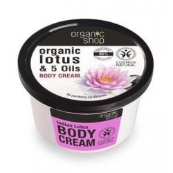 Organic Shop Organic Lotus & 5 Oils Body Cream krem do ciała Indyjski Lotos 250ml