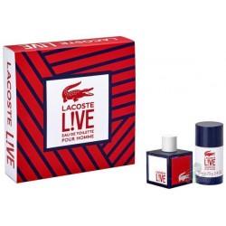 Lacoste Live Woda toaletowa 60ml spray + Dezodorant 75ml sztyft
