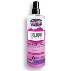 Ronney Professional Color Protect 2-Phase Cloured&Highlighted Hair dwufazowa mgiełka do włosów farbowanych 475ml