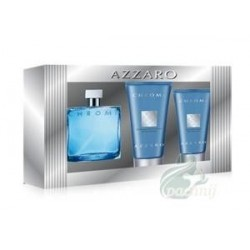 Azzaro Chrome Woda toaletowa 30ml spray + Balsam po goleniu 30ml + Żel pod prysznic 50ml