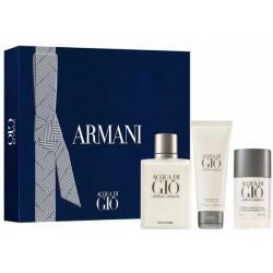 Giorgio Armani Acqua di Gio Pour Homme Woda toaletowa 100ml spray + Dezodorant 75ml sztyft + Balsam po goleniu 75ml