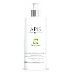 Apis Acne-Stop Cleansing Antibacterial Toner oczyszczający tonik antybakteryjny z zieloną herbatą 500ml