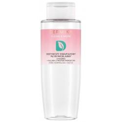 Dermika Clean & More Odżywczy dwufazowy płyn micelarny cera normalna i sucha Cykoria & Olejek z Pestek Porzeczki 400ml