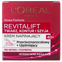 L`Oreal Revitalift Krem przeciwzmarszczkowy Twarz, Kontur i Szyja 50ml