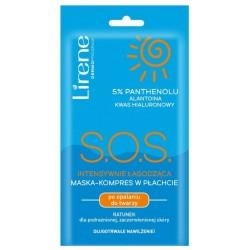 Lirene Sun S.O.S. intensywnie łagodząca maska-kompres w płachcie po opalaniu do twarzy 15ml
