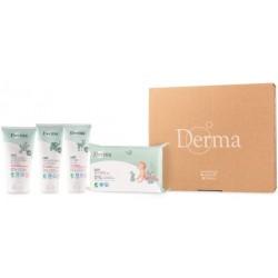 Derma Eco Baby maść łagodząca 100ml + krem pielęgnacyjny 100ml + szampon/mydło do kąpieli 150ml + chusteczki nawilżane 64szt