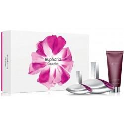 Calvin Klein Euphoria Woda perfumowana 100ml spray + 30ml spray + Balsam do ciała 100ml