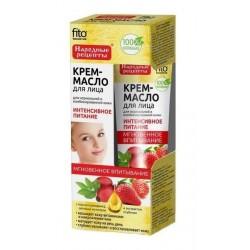 Fito Cosmetics Kremowy olejek do twarzy intensywne odżywienie cera normalna i mieszana Dzika Róża i Truskawka 45ml