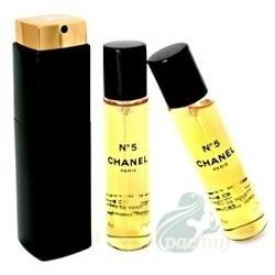 Chanel No. 5 Woda perfumowana 20ml spray + 2 x 20ml spray wkład uzupełniający