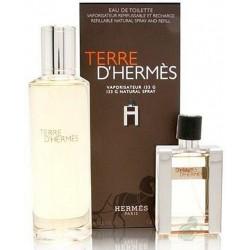 Hermes Terre d` Hermes Woda toaletowa 30ml spray + Flakon uzupełniający 125ml