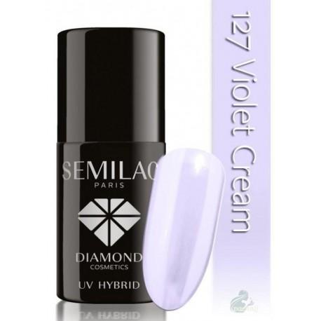 Semilac UV Hybrid Lakier hybrydowy 127 Violet Cream 7ml