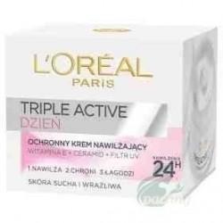 L`Oreal Triple Active Krem nawilżający i ochronny na dzień do skóry suchej i wrażliwej 50ml