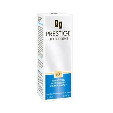 AA Prestige Lift Supreme 70+ Wygładzający krem pod oczy do skóry wrażliwej i skłonnej do alergii 15ml