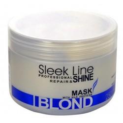 Stapiz Sleek Line Blond Mask Maska z jedwabiem do włosów blond 250ml