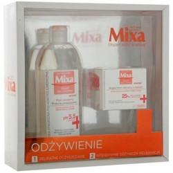 Mixa Ekspert Skóry Wrażliwej Płyn micelarny przeciw przesuszaniu 400ml + Bogaty krem odżywczy z olejkiem 50ml