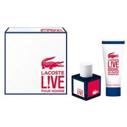 Lacoste Live Woda toaletowa 40ml spray + Żel pod prysznic 100ml