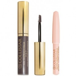 Collistar Perfect Eyebrow Gel Koloryzujący żel do brwi 2 Castano Asia + Brightening Eyebrow Pencil Kredka do brwi