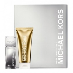 Michael Kors White Luminous Gold Woda perfumowana 50ml spray + Balsam do ciała 100ml