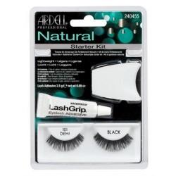 Ardell Zestaw Natural 101 1 para sztucznych rzęs Black + Lash Adhesive Klej do rzęs 2,5g + Lash Applicator Aplikator do rzęs