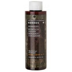 Korres Mountain Pepper Showergel Żel pod prysznic dla mężczyzn o zapachu pieprzu górskiego, bergamotki i kolendry 250ml