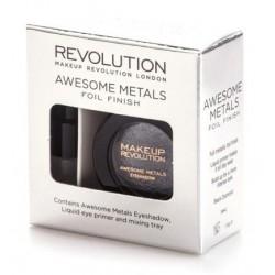 Makeup Revolution Awesome Metals Foil Finish Metaliczny cień do powiek Black Diamond 1,5g