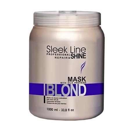 Stapiz Sleek Line Blond Mask Maska z jedwabiem do włosów blond 1000ml