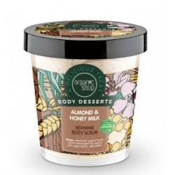 Organic Shop Body Desserts Almond & Honey Milk Reviving Body Scrub Odżywczy peeling do ciała - migdały i miodowe mleko 450ml