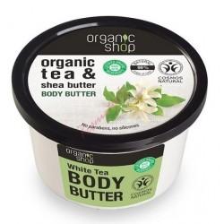 Organic Shop Organic Tea & Shea Butter Body Butter Masło do ciała o zapachu białej herbaty i masła shea 250ml
