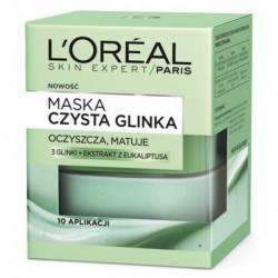 L`Oreal Skin Expert Maska oczyszczająco-matująca czysta glinka 50ml