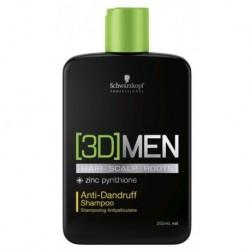 Schwarzkopf Professional 3D Men Anti Dandruff Shampoo Szampon przeciwłupieżowy 250ml