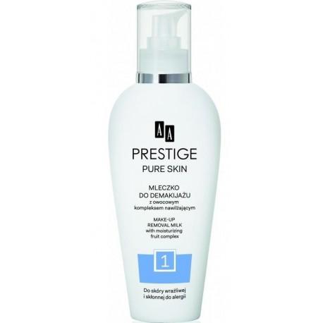 AA Prestige Pure Skin Make-up Removal Milk Mleczko do demakijażu do skóry wrażliwej i skłonnej do alergii 200ml