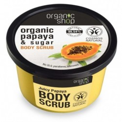 Organic Shop Organic Papaya & Sugar Body Scrub Peeling do ciała o zapachu soczystej papai 250ml