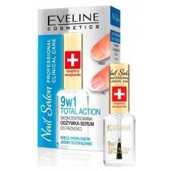 Eveline 9in1 Total Action Nail Salon Skoncentrowana odżywka do paznokci 12ml