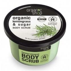 Organic Shop Organic Lemongrass & Sugar Body Scrub Peeling do ciała o zapachu trawy cytrynowej 250ml